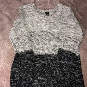 Grey and black knitted sweater